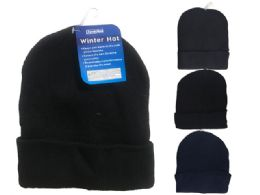 288 Units of Men's Beanie, 60g 4 Assorted Colors - Winter Beanie Hats