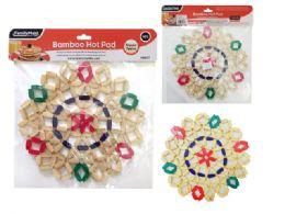 96 Units of Round Hot Pad BambooBamboo Hot Pad, Trivet, Pot Holder - Coasters & Trivets