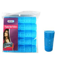 96 Units of 10 Piece Plastic Hair Roller - Hair Rollers