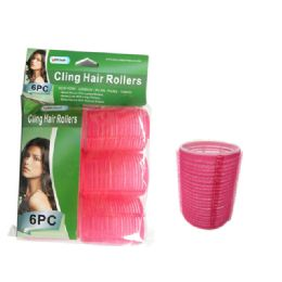 84 Units of 6 Piece Cling Hair Rollers - Hair Rollers