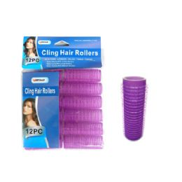 96 Units of 12 Piece Cling Hair Rollers - Hair Rollers