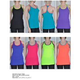 72 Units of Women's Fashion Sports Tank in Assorted Colors And Sizes - Womens Active Wear