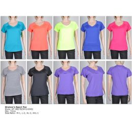 72 Units of Womens Fashion Sports Top Assorted Colors And Sizes - Womens Active Wear