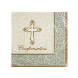 144 Units of Divinity Confirmation Beverage Napkins - Napkin and Paper Towel Holders