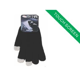 120 Units of CHILDRENS TOUCH SCREEN GLOVE ( Black Color Only ) - Kids Winter Gloves