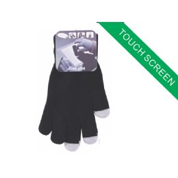 120 Units of Childrens Touch Screen Glove(Black Color Only) - Kids Winter Gloves