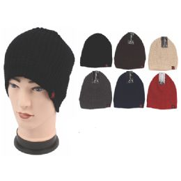 72 Units of Mens Fashion Heavy Knitted Winter Hat - Fashion Winter Hats