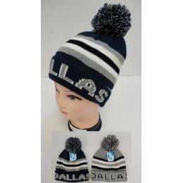 12 Units of Knitted Toboggan Hat [DALLAS]