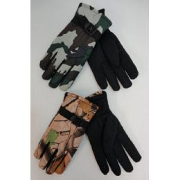 24 Units of Men's Camo Ski Gloves - Ski Gloves