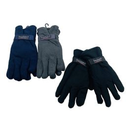 24 Units of Men's Thermal Insulate Fleece Gloves - Fleece Gloves