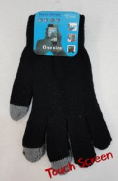 12 Units of Men's Touch Screen Gloves - Conductive Texting Gloves