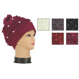 72 Units of Womens Fashion Heavy Knit Hats Assorted Colors - Winter Beanie Hats