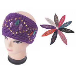 120 Units of Womens Fashion Assorted Color Winter HEadbands - Ear Warmers