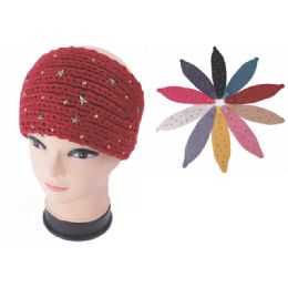96 Units of Womens Fashion Assorted Color Winter HEadbands - Ear Warmers