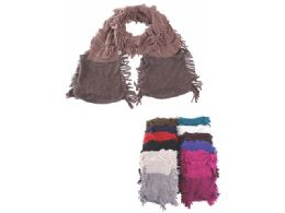 72 Units of Womens Fashion Scarf Assorted Solid Colors - Winter Scarves