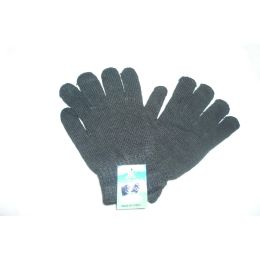 144 Units of Magic Gloves Black Color - Knitted Stretch Gloves