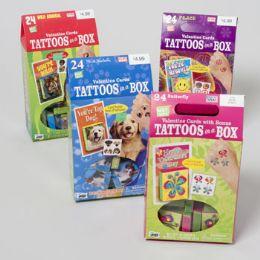 96 Units of Asst Valentines Cards W/ Tattoos Shelf Pulls Ppc 4.99 - Valentine Decorations
