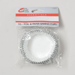 144 Units of Baking Cups 32ct Foil/paper Casual Cook *1.99* Case Dim: 15.5 X 9 X 11 - Baking Supplies