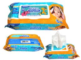 48 Units of Baby Wipes With Rectangle Flip Top Lid - Baby Beauty & Care Items