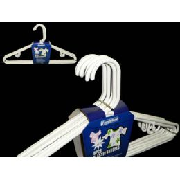 48 Units of 8 Piece White Adult Hangers - Hangers