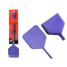 72 Units of Fly Swatter W/Tray 2asst Clr - Pest Control