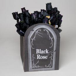 120 Units of 60 pc Black Rose 3 asst Glitter Or 2tone - Halloween & Thanksgiving