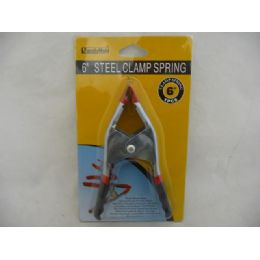 """96 Units of Clamp Spring 6""""Bk/Rd Handle - Clamps"""
