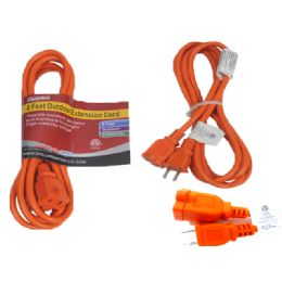 24 Units of 8 Feet Orange Outdoor Extension Cord - Chargers & Adapters