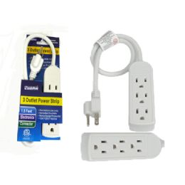96 Units of Etl Ul Std. 3 Outlet 1.5ft Cable Etl Blue - Chargers & Adapters