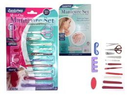 144 Units of Manicure Set 15 Pieces - Manicure and Pedicure Items