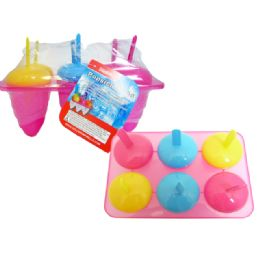 48 Units of 6 Piece Ice Pop Popsicle Mold - Freezer Items