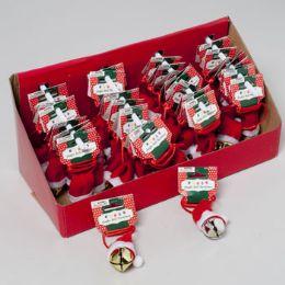 40 Units of Jingle Bell With Santa Hat Neckace - Christmas Novelties