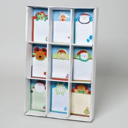 72 Units of Memo Pad Magnetic Christmas 50sht 4x6 9ast Designs In 72pc Sidekick Display - Christmas Novelties
