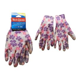144 Units of Working Gloves 1pr W/Printed - Working Gloves