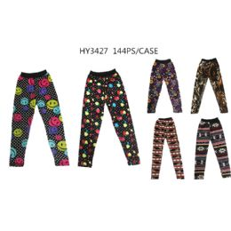 72 Units of Girls Assorted Printed Leggings - Girls Leggings