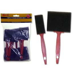 96 Units of Paint Brush Foam 10pc - Paint and Supplies