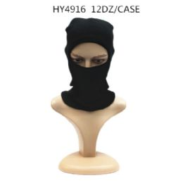 72 Units of Winter Black Ski Hat - Unisex Ski Masks