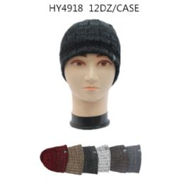 36 Units of Men's Assorted Color Winter Hat - Winter Beanie Hats