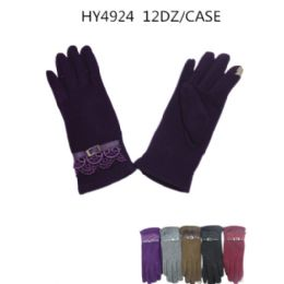 36 Units of Ladies Touch Screen Winter Gloves Assorted Color - Conductive Texting Gloves