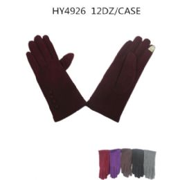 36 Units of Ladies Winter Touch Screen Gloves Assorted Color - Conductive Texting Gloves
