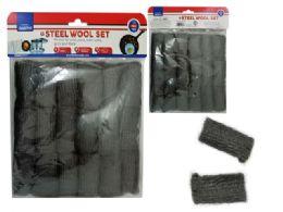 96 Units of 18 Piece Steel Wool Scourer Set - Scouring Pads & Sponges