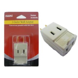 144 Units of Outlet Adapter 2 Plugs 11x14cm - Chargers & Adapters