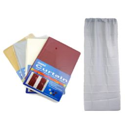 288 Units of Window Curtain 5 Assorted Colors - Window Curtains