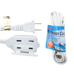 48 Units of 9 Feet Extention Cord White Color - Chargers & Adapters