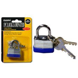 144 Units of Lock 30mm Laminated2pc Steel Key - Padlocks and Combination Locks