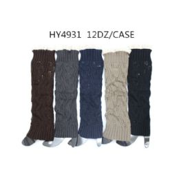 48 Units of Woman's Long Winter Leg Warmer Assorted Color - Womens Leg Warmers
