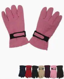 36 Units of Woman's Fleece Winter Gloves Assorted Colors - Fleece Gloves