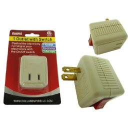 96 Units of Outlet Adapter With Switch Etl ul - Chargers & Adapters
