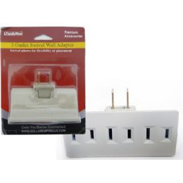 144 Units of 3-Outlet Swivel Wall Adapter - Chargers & Adapters
