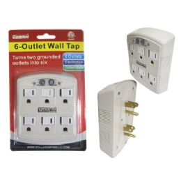 144 Units of 6 Outlet Swivel Wall Tap - Chargers & Adapters